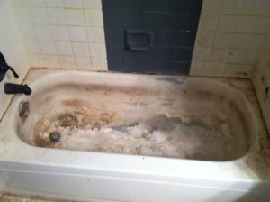 Before Tub Refinishing Los Angeles